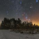 Winter sky,                                Łukasz Żak