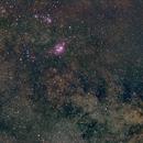 Lagoon Nebula 135mm Barndoor Tracker,                                Ivan Nair