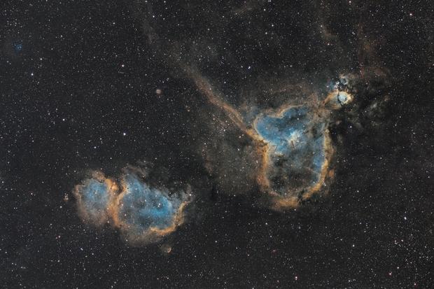 IC 1805 & 1848 Heart and Soul Nebula (widefield),                                Jeremy Jonkman