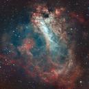 M17 Omega Nebula w/PixInsight,                                Brett Creider