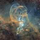 Statue of Liberty nebula (NGC 3576) - [SII]+Ha+[OIII],                                Aniceto Porcel
