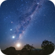 APOD: 2019 February 8 - Moon, Four Planets, and Emu,                                Alex Cherney