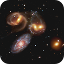 Stephan's Quintet - Hubble Space Telescope,                                Rudy Pohl