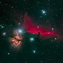 Flame and Horsehead Nebulae - RGB Combination,                                gmvtex