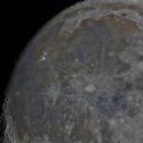 Moon 94,8 % Illuminated Libration: 5,9 S 5,7W,                                Siegfried