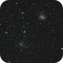 Flying Geese Cluster, NGC 6938 and The Fireworks Galaxy NGC 6946,                                Steven Bellavia