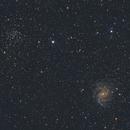 NGC 6946 and Open Cluster NGC 6939,                                Richard H