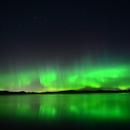 Aurora Borealis - Lake Kernaalanjarvi, Southern Finland.,                                Bruce Rohrlach