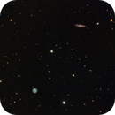 M108 and M97 The Surfboard Galaxy and The Owl Nebula in LRGB,                                Eshan Toorabally