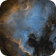 North American and Pelican Nebulae in SHO,                                Alex Roberts