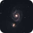 M51 The Whirlpool Galaxy - No Calibration Frames,                                Kevin Smith