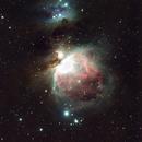 Nébuleuse d'Orion (M42) dans la constellation de Orion (Haute résolution),                                Denis Bergeron