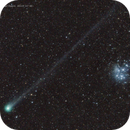 Comet Lovejoy and Pleiades,                                José J. Chambó