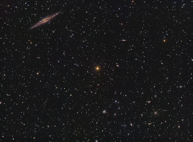 NGC 891 + Abell 3347,                                Scott