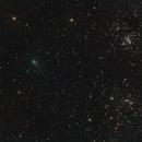 Comet C/2017 T2 Panstarrs  with the Double Cluster,                                Mareko