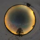 Stereographic projection Milky Way,                                Łukasz Żak