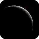 April 2017 .... Surely, one of my first astrophotography - Aldebaran and Moon just after occultation,                                Jean-Marie MESSINA