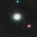 M13, Kugelsternhaufen im Sternbild Herkules,                                Wolfsrudel