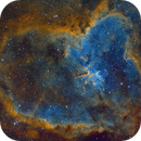 IC1805 - Nebulosa del Corazón en SHO,                                Alberto Pisabarro