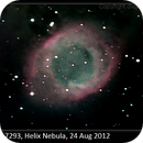 NGC 7293, Helix Nebula, 24 Aug 2012,                                David Dearden