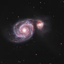 M51 colliding with NGC 5195 in Ha-LRGB,                                Uwe Deutermann