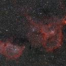"IC 1848 & IC 1805 - The Soul & The Heart Nebulae,                                Sebastian ""BastiH"" Hinz"