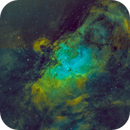 Eagle Nebula - Messier 16 Hubble Pallette,                                Miles Zhou