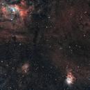 NGC 7635 - Bubble Nebula & Friends (SHO/RGB),                                Frank Breslawski