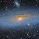 M31 with HaLRGB,                                northwolfwu