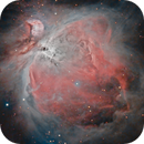 Orion Nebula and De Mairans Nebula with Esprit 80ED,                                Henning Schmidt