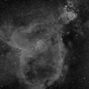 IC1805 (Heart Nebula) in Narrowband Ha and OIII,                                JDJ