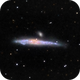 NGC 4631 - Whale Galaxy and Hockey Stick - RGB,                                David Andra