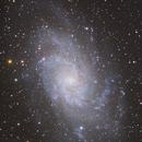 M33  Triangulum Galaxy  -  A Two Panel Mosaic,                                Michael Deyerler