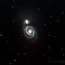 M51 - the Whirlpool Galaxy,                                amasis