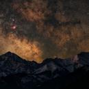 Milky core over Tatra mountains,                                Piotr Czerski