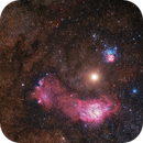 Mars Between Nebulas (M8 & M20),                                Sebastian Voltmer