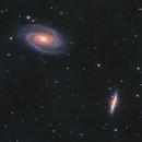 Messier 81/82 2021 version,                                Mikael Wahlberg