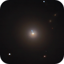 Calculation of the spatial dimensions of the M87 jet,                                Aniceto Porcel