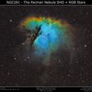 NGC281 - The Pacman Nebula SHO+RGB,                                Brice Blanc