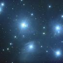 "M 45 - first light in deep sky 8"" GSO Newton,                                Wolfgang Zimmermann"