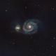 M51 la galaxia del Remolino,                                Luis M. Gutiérrez