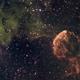 IC444 and IC443 (Jellyfish Nebula) in narrowband (SHO),                                HaSeSky