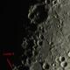Mondkrater mit Lunar X,                                Bruno