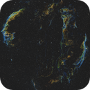 Mosaic of the Veil nebula in SHO,                                Benny Colyn