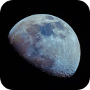 Waxing gibbous Moon in colour,                                Lujafer