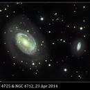 NGC 4725, Ring Galaxy in Coma Berenices, 23 Apr 2014,                                David Dearden