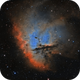 NGC 281 - Pacman Nebula HOO,                                Brad