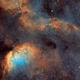 Sh2-101 Tulip Nebula in HST palette,                                Bogdan Jarzyna