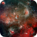 A Bubbling Cauldron of new-born stars - Spitzer Space Telescope,                                Rudy Pohl