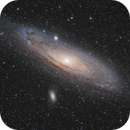 M31 Remastered with Ha (Apo 66/400 - TSA102),                                Jean-Baptiste Auroux